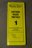 Southern Pacific Employee Timetable - Northern Region #1 - Nov 1, 1985