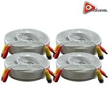 AceLevel Premium 100ft Bnc Extension Cables for Swann 00006000  Systems- 4 Pack (White)