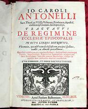 Libro Io Caroli Antonelli Trattato Diritto Canonico Protonotario Apostolico 1692