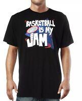 Nike Dri-Fit Men's Basketball Is My Jam Fitness Running Black T-shirt - Size XXL