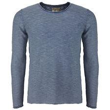Khujo Herren urban Pullover Pelton Blue Longsleeve Baumwolle -60