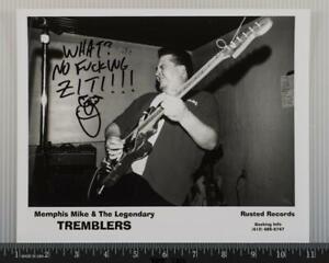 Memphis Mike Tremblers Autograph Signed 8x10 B&W Promo Promotional Photo tob