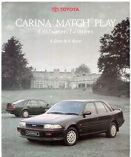 Toyota carina match play 1.6 édition limitée 1991 uk market sales brochure