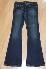 True Religion Joey Twisted Seam Boot Cut Stretch Denim Jeans size 28