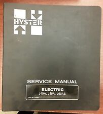 Hyster Service Manual for Electric J40-50A and J60AS