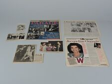 Vintage John F. Kennedy and Family Newspaper Articles -1980's