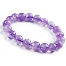 Genuine Natural Lavender Amethyst Round Beads Fashion Bracelet 12mm