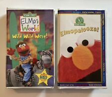ELMO Lot X 2 Elmo's World Wild Wild West & Elmopalooza Sesame Street VHS Tested