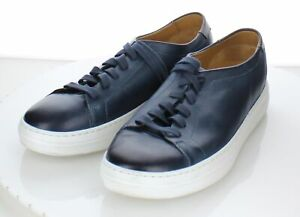 28-75 $325 Men's Sz 10 M Magnanni Bartolo Leather Sneaker In Navy