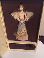 2007 Pavillion Gift Co Elements Angel & Flower Figurine Ornament Christmas