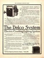 1913 ORIGINAL VINTAGE DELCO CAR PARTS MAGAZINE AD
