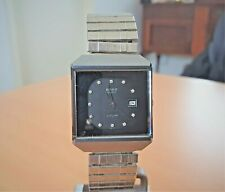 Rado Diastar black crystal set dial Swiss V8, 7 jewel quartz watch