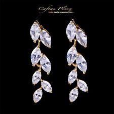 Ohrhänger Luxus Ohrringe Zirkonia AAA Swarovski-Kristalle STELLUX™ 18k gold plt.