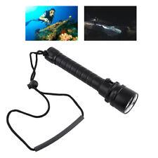 8000LM sous-marine 100m 3 x T6 LED torche de plongée lampe de poche + dragonne