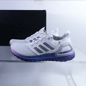 Size 9 Men's adidas Ultraboost 20 Running Shoes EG0755 Dash Grey/Blue Violet