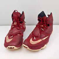 Mens 15 Nike Lebron Max 13.0 high top tennis shoes 807219-690 maroon