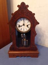 Rare Antique F Kroeber Kitchen Or Parlor Clock One Day Supply Sweetheart Clock