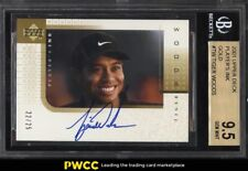 2001 Upper Deck Player's Ink Gold Tiger Woods ROOKIE RC AUTO /25 BGS 9.5 (PWCC)