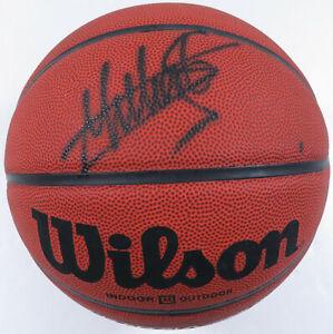 Dikembe Mutombo Houston Rockets Autographed Signed NBA Wilson Basketball