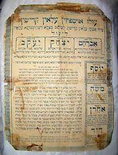 jewish judaica antique Sukkah Decoration poster Ushpizin rabbi torah sukkot