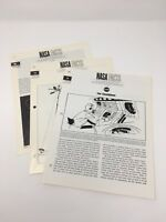 SET OF THREE VINTAGE 1967-68 NASA FACTS  ON COUNTDOWN, TELEMETRY AND ORBITS