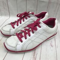 FootJoy LoPro Casual Spikeless Womens Golf Shoes 9 M Pink & White