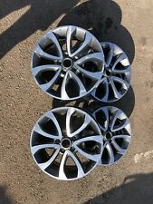 "Genuine Nissan Qashqai Juke TEKNA 17"" ALLOY WHEELS RIMS 1KR7A Grigio Diamond Cut"