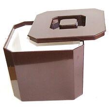 Cubo de Hielo Enfriador De Botella Marrón 4.5ltr | Plástico Cuadrado Cubo de Hielo Cubo De Cerveza