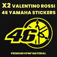 X2 VALENTINO ROSSI 46 YAMAHA Decals MotorbikeStickers Motorcycle Tank Fairing