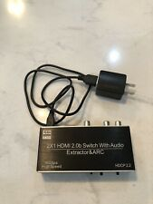 avedio links HDMI Switch Audio Extractor HDMI Switch Splitter 2 Inputs 1 Output