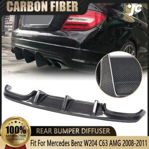 Rear Bumper Diffuser Lip For 2008 -2011 Mercedes Benz W204 C63 AMG Carbon Fiber