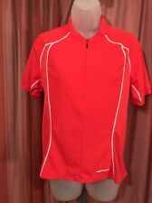 Sugoi Cycling Jersey Woman's Size L 1/2 Zip Red Made In Canada