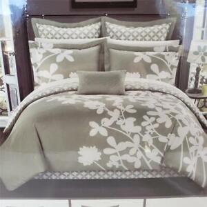 = Chic Home Design Queen Iris 7 Pc Reversible Comforter Set CS1123-406