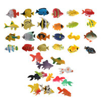 36 Plastic Tropical Aquatic Sea Fish Ocean Creatures Animals Figure Kids Toy