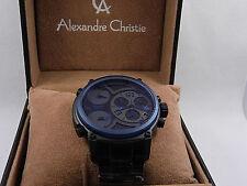 Alexandre Christie  63240 MTBUTBABU  Triple Time  46.5mm Chronograph Men's Watch