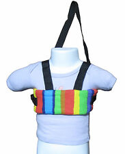New baby/toddler walking safety harness, soft,  Rainbow stripes