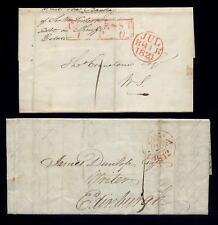 SCOTLAND 1812-21...CASTLE STREET PPO + DUNLOP WRITER