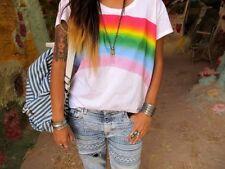 Zara los bloggers! Faded étnicas Azteca Impreso Pantalones Jeans Tamaño uk8/eur36/us4
