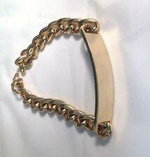8mm 14k Gold Plated Miami Cubani i d Bracelet for Men 8 inch