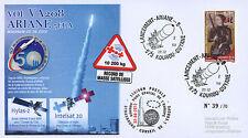 "VA208LT2 FDC KOUROU ""ARIANE 5 Rocket - Flight 208 / HYLAS-2 & INTELSAT 20"" 2012"
