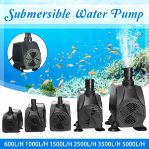 SUBMERSIBLE WATER PUMP AQUARIUM FISH TANK SUMP PUMPS POND FEATURE WATERFALL PUMP