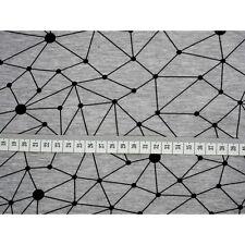 Printed Stretch Jersey Knit/ Sweatshirt Fabric Geometric Line/dots HalfMetre