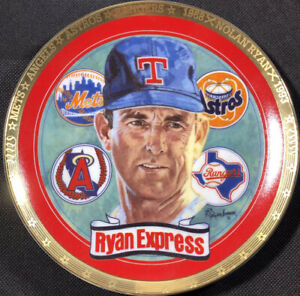"""1993 Hamilton Collection Nolan Ryan """"THE RYAN EXPRESS """" Plate Ltd. Collection!!!"""