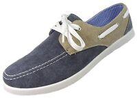 Mens Dr Keller Canvas Boat Shoes Wide Fit Lace Up Pump Deck Trainer Shoes