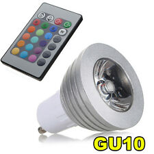 GU10 LAMPADA BULBO RGB LED MULTICOLORE 3W TELECOMANDO HK