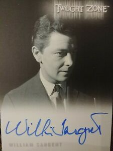 William Sargent A-172 Autograph Card Twilight Zone Archives Rittenhouse 2020