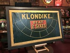 "1920's Casino Gaming KLONDIKE Oil Cloth Framed Layout  ""Watch Video"""