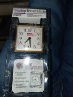 Vtg 1993 Equity Travel Alarm Clock Wind Up Mid Century Glow in the Dark NEW