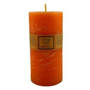 Scented Pillar Candle Home Decor Premium Candles - Orange Tropic 6.8x14cm