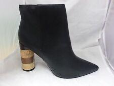 Missguided Multi Printed Stack Heel Ankle Boots Black Uk 8 Eur 41 EM33 19